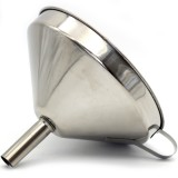 Stainless Steel Decanting Funnel w Strainer 15cm