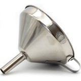 Stainless Steel Decanting Funnel w Strainer 13cm