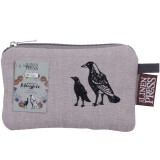 The Linen Press Organic Cotton Small Purse - Magpie