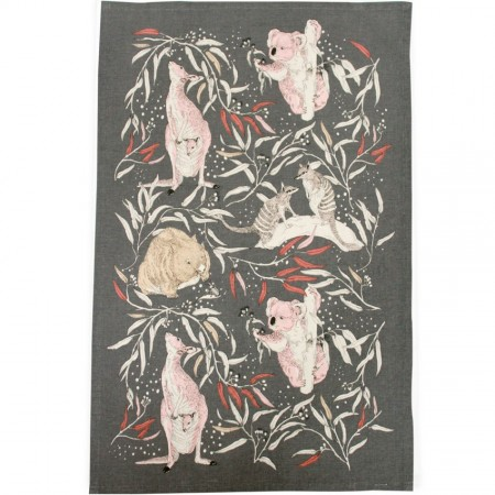 The Linen Press Organic Cotton Tea Towel - Dusk Gathering