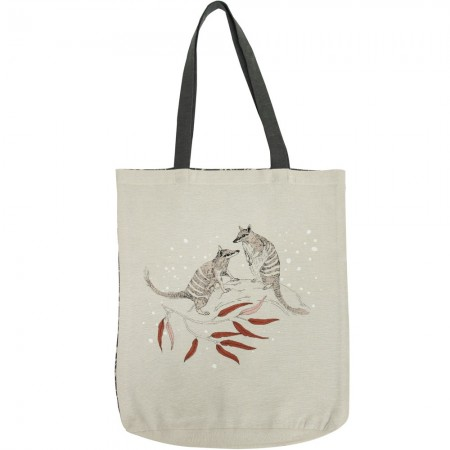 The Linen Press Organic Cotton Shopper Bag - Dusk Gathering (Numbat)