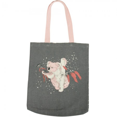 The Linen Press Organic Cotton Shopper Bag - Dusk Gathering (Koala)