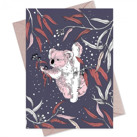 The Linen Press Card - Dusk Gathering (Koala)
