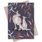 The Linen Press Card - Dusk Gathering (Kangaroo)