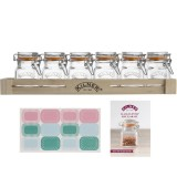 Kilner Spice Jars 70ml 6pce Set