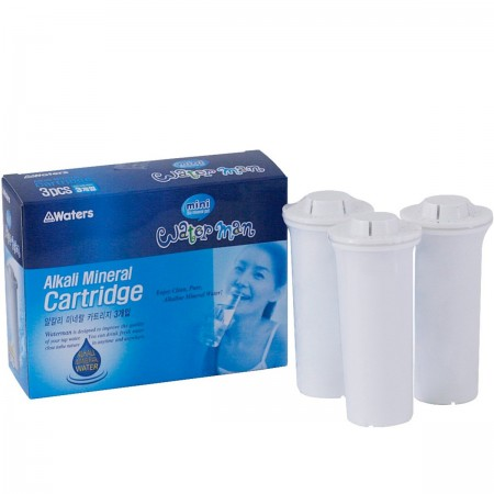 Mini Waterman 600ml Replacement Filters 3pk - White