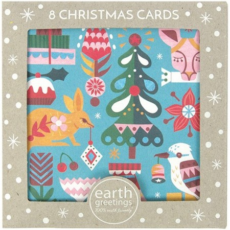Earth Greetings Christmas Card 8pk - Bushland Greetings