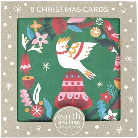 Earth Greetings Christmas Card 8pk - Cockatoo Bell