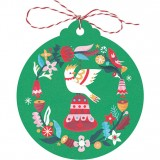 Earth Greetings Christmas Tag 5pk - Cockatoo Bell