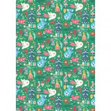 Earth Greetings Christmas Wrapping Paper - Festive Woodland