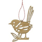 Earth Greetings Bamboo Decoration - Fairy Wren