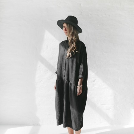 Seaside Tones Oversized Dress Grey