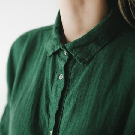 Seaside Tones Oversized Green Dress