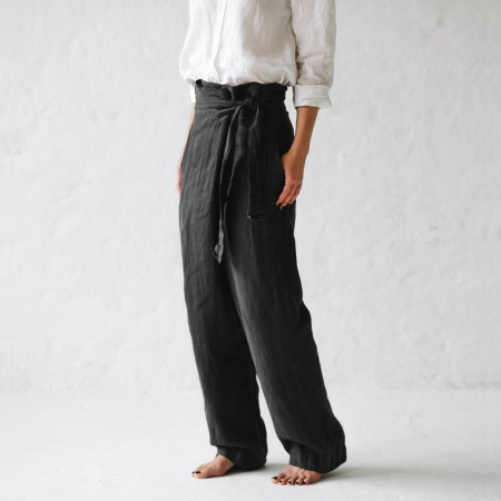 Seaside Tones Wrap Trousers Grey Biome Eco Stores