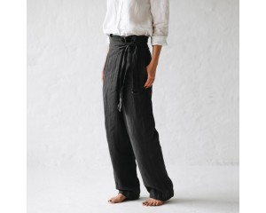 Seaside Tones Wrap Trousers Grey