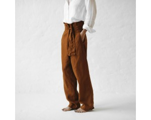 Seaside Tones Wrap Trousers Mustard