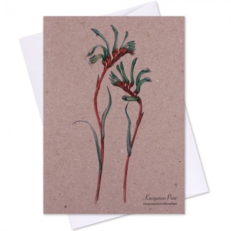 The Linen Press Card - Kangaroo Paw