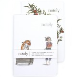 Notely Pocket Notebook Set A6 - Tiger/Red Delicious Lined