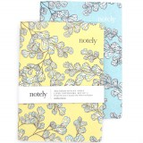 Notely Notebook Set A5 - Fern Fancy Lined