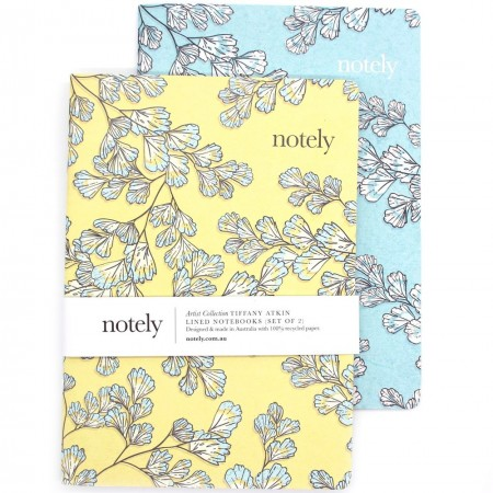 Notely Lined Notebook Set A5 - Fern Fancy