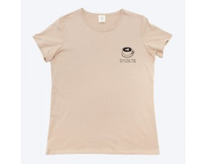 Mosov Organic Sad Latte Art Womens T-Shirt