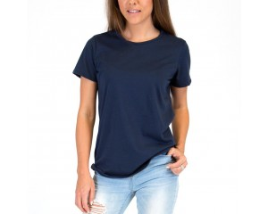 Mosov Organic Crew Neck Womens T-Shirt Navy