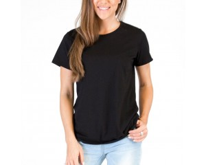 Mosov Organic Crew Neck Womens T-Shirt Black