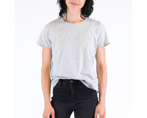 Mosov Organic Crew Neck Womens T-Shirt Grey