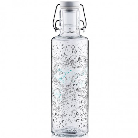 soulbottles Glass Water Bottle 0.6L - Waterworld