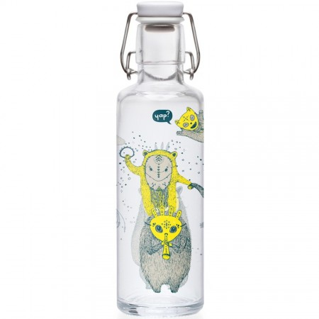 soulbottles Glass Water Bottle 0.6L - Yap Yap