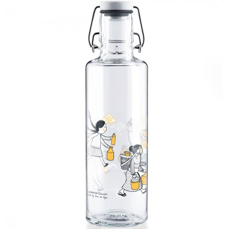 soulbottles Glass Water Bottle 0.6L - All 4 Water