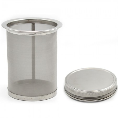 Stainless Steel Mason Jar Filter (with lid) - 16oz Pint 10cm