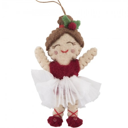 Fairtrade Felt Christmas Decoration - Ballerina