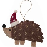Fairtrade Felt Christmas Decoration - Echidna
