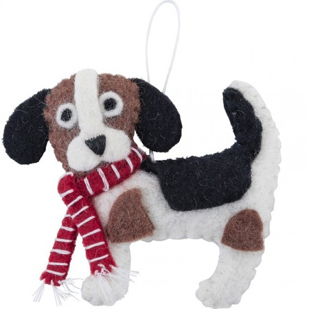 Fairtrade Felt Christmas Decoration - Beagle