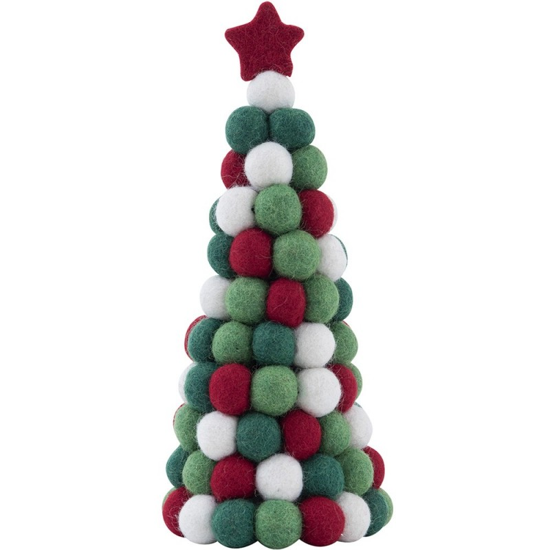 Recycled Plastic Christmas Tree: Fairtrade Felt Christmas Decoration