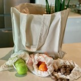 Zero Waste Shopping Bag Set - 16 Piece Organic Cotton