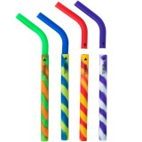 Silicone drinking straws 4 pack - tye dye by Greenpaxx