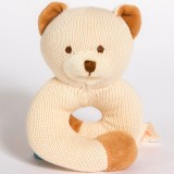 MiYim Knitted Rattle Teether - Bear