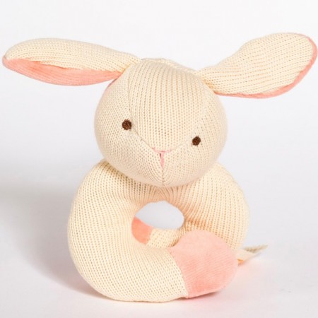 MiYim Knitted Rattle Teether - Bunny