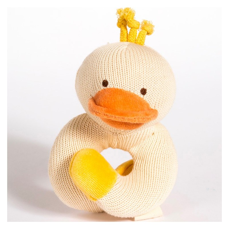 MiYim Knitted Rattle Teether - Duck