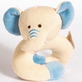 MiYim Knitted Rattle Teether - Elephant