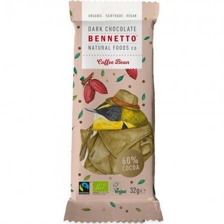 Bennetto Organic Dark Chocolate 30g - Coffee Bean