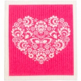 Swedish Dish Sponge Cloth - Pink Heart
