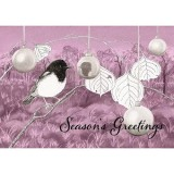 Paula Peeters Christmas Greeting Card - Hooded Robin and Bimblebox