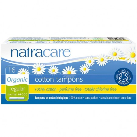 Natracare Organic Cottons Tampons with Applicator 16pk - Regular