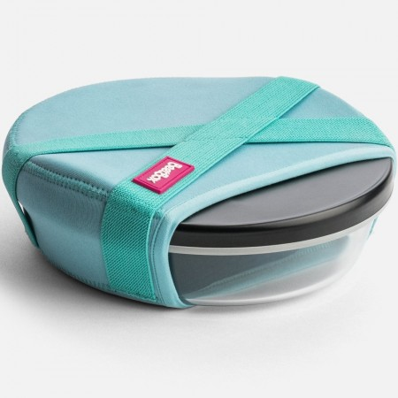 BeetBox Original Glass Lunch Box with Small Container - Peacock