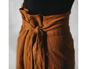 Seaside Tones Mustard Belted Skirt