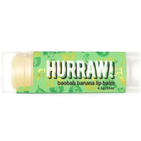 Hurraw! Vegan Lip Balm - Baobab Banana