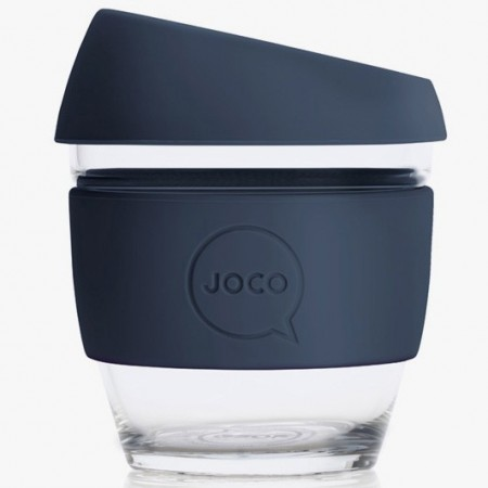 JOCO Glass Reusable Coffee Cup 118ml 4oz - Mood Indigo